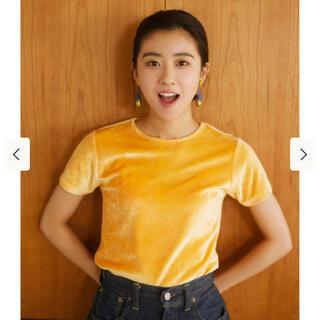 ビームス(BEAMS)のRey beams ストレッチ ベロア tシャツ(Tシャツ(半袖/袖なし))