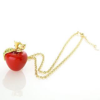 ハローキティ(ハローキティ)のハローキティ Jewelberry アップル ネックレス 赤 リンゴ 🍎(ネックレス)