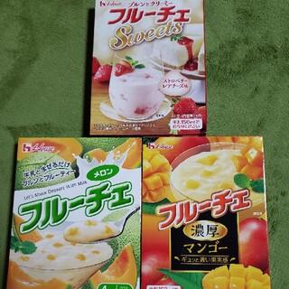 ハウスショクヒン(ハウス食品)の🍈ハウス フルーチェ🍓3箱セット💕メロン、マンゴー、ストロベリーレアチーズ(菓子/デザート)