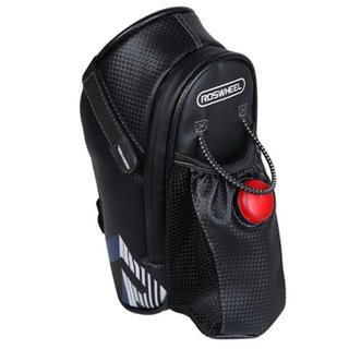 サドルバッグ 自転車 ロードバイク 防水 大容量 ボトルホルダー ライト付属