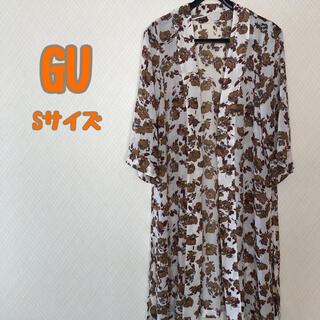 ジーユー(GU)のGU 上着 羽織物 シースルー 花柄 トップス Sサイズ(カーディガン)