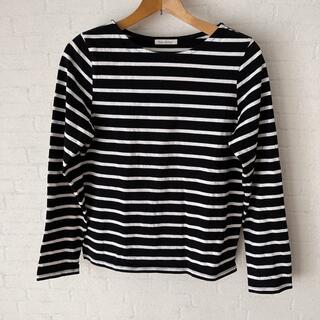 サマンサモスモス(SM2)の未使用✨ボーダーT/ブラック×ホワイト/L(Tシャツ(長袖/七分))