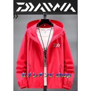 DAIWA - DAIWA ナイロンジャケットフード付 2XLサイズ 赤色