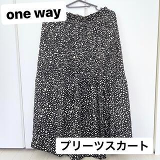 ワンウェイ(one*way)のone way プリーツスカート Mサイズ(ひざ丈スカート)