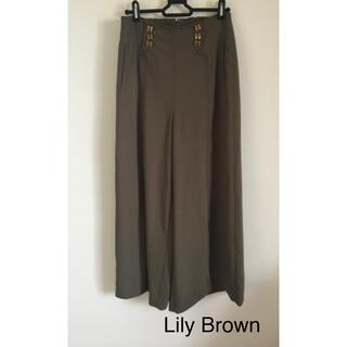 リリーブラウン(Lily Brown)のLily Brown ワイドイージーパンツ(カジュアルパンツ)