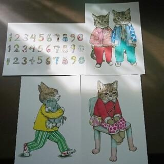 ヒグチユウコさん MOE展 ポストカード4枚セット(印刷物)