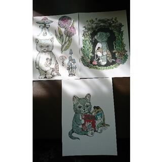 ヒグチユウコさん MOE展 ポストカード3枚セット(印刷物)