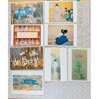 絵葉書 ポストカードセット 8枚 美術館 美人画 エロールルカイン(印刷物)