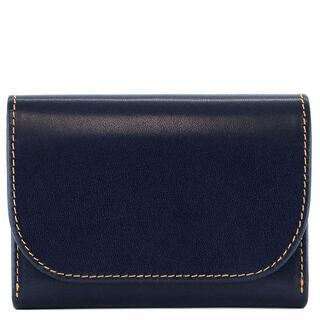 WHITEHOUSE COX - Whitehouse Cox 二つ折り財布 S1884 ネイビー×ナチュラル