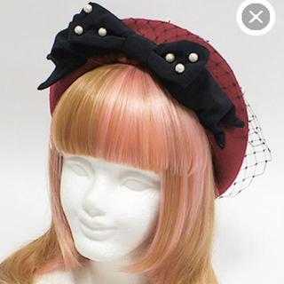 アンジェリックプリティー(Angelic Pretty)の美品!Dolly Lady Ribbonベレー(ハンチング/ベレー帽)