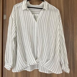 ショコラフィネローブ(chocol raffine robe)のストライプブラウス♪(シャツ/ブラウス(長袖/七分))