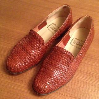 70'sイタリア編み込みレザーローファー(ローファー/革靴)