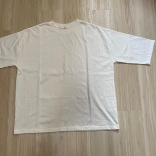 サマンサモスモス(SM2)のSmansa Mos2 blue Tシャツ 7分丈 フリーサイズ 白(Tシャツ(長袖/七分))