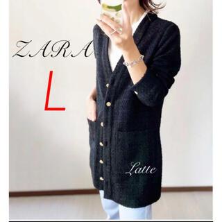 ザラ(ZARA)のZARA 大草直子さん着用 テクスチャーワンピース パッチポケット L(ミニワンピース)