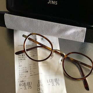 JINS - jins 鼈甲メガネ クラシック 両目(-3.75)
