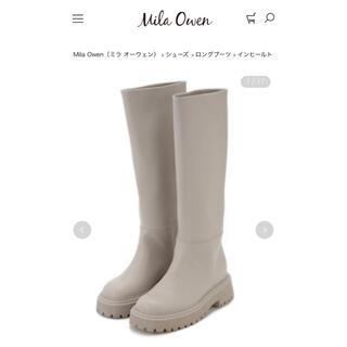 ミラオーウェン(Mila Owen)のインヒールトラックソールジョッキーブーツ(ブーツ)