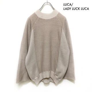 ルカ(LUCA)のLUCA/LADY LUCK LUCA★ハイネックニット 切替 プルオーバー(ニット/セーター)