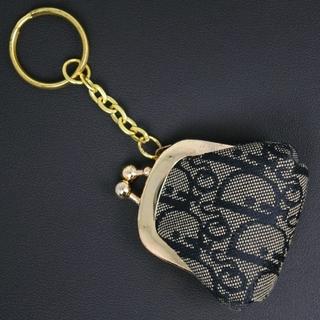 ディオール(Dior)のクリスチャンディオール チャーム がま口 トロッター キャンバス ネ(キーホルダー)