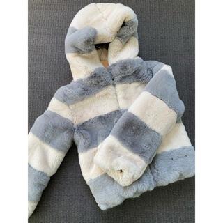 シールームリン(SeaRoomlynn)のバイカラーフードファーコート(毛皮/ファーコート)