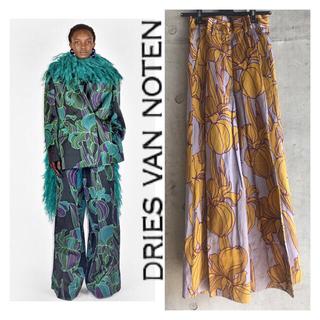 ドリスヴァンノッテン(DRIES VAN NOTEN)の限定値下げ【Dries van noten】20aw/アイリス柄ワイドパンツ(カジュアルパンツ)