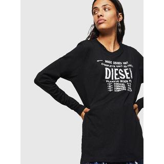 ディーゼル(DIESEL)の【DIESEL(ディーゼル) 】T-HILARY-C 長袖Tシャツ 黒(Tシャツ(長袖/七分))
