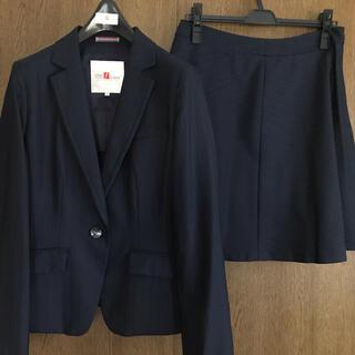 はるやまVIVI f leurs レディーススーツ  ネイビーブルー 高級仕様(スーツ)