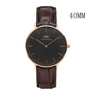 ダニエルウェリントン(Daniel Wellington)のダニエルウェリントン新品ピンクゴールド×ワニダックブラウン40MMレザー(腕時計(アナログ))
