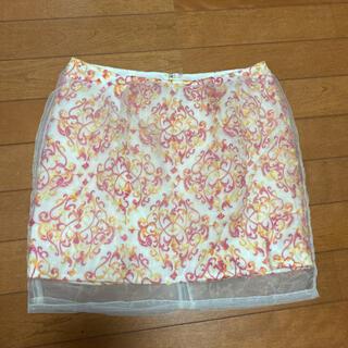 リリーブラウン(Lily Brown)のリリーブラウン 刺繍オーガンジースカート(ミニスカート)