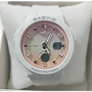 Baby-G - 0701未使用 CASIO BABY-G BGA-250 ホワイト×ピンク時計
