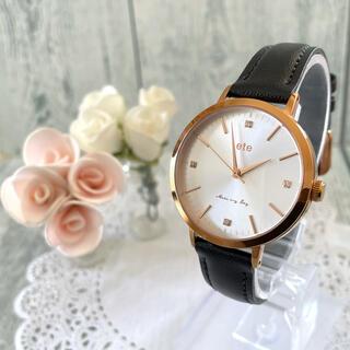 エテ(ete)の【動作OK】ete エテ 腕時計 ボーイフレンド 4石 ストーン ピンクゴールド(腕時計)