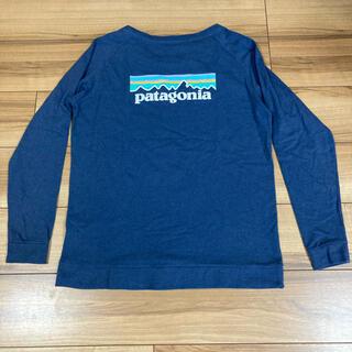 パタゴニア(patagonia)のパタゴニア   p6    スエットシャツ ロンt  Mサイズ ネイビー(Tシャツ(長袖/七分))