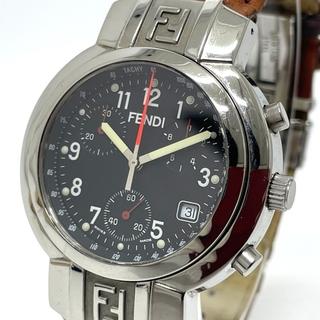 フェンディ(FENDI)のフェンディ 4500G クロノグラフ デイト オロロジ クオーツ メンズ腕時計(腕時計(アナログ))