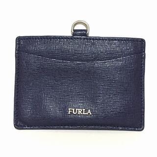 フルラ(Furla)のフルラ カードケース - ネイビー レザー(名刺入れ/定期入れ)