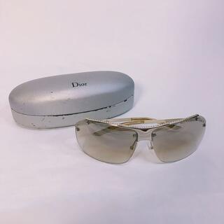 ディオール(Dior)の【Dior/ディオール】サングラス ブラウン ラインストーン 銀(サングラス/メガネ)