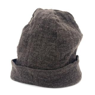 フェンディ(FENDI)のフェンディ ズッカ FF柄 ダブルニット ニットキャップ ニット帽 ブラウン(ニット帽/ビーニー)