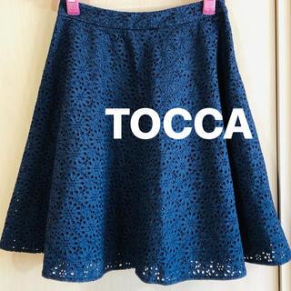 トッカ(TOCCA)のトッカ TOCCA レース スカート 美品(ひざ丈スカート)