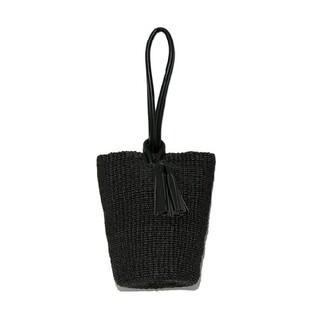フレイアイディー(FRAY I.D)のフレイアイディー/フィリピンアバカバッグ【BLK】新品・タグ付き(ハンドバッグ)