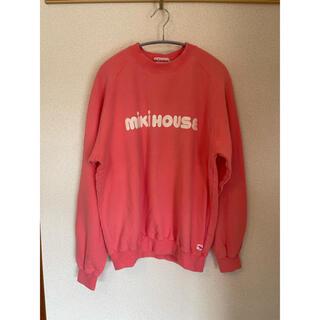 ミキハウス(mikihouse)のmikihouse ミキハウス トレーナー ピンクデカロゴ 90s(Tシャツ/カットソー(七分/長袖))