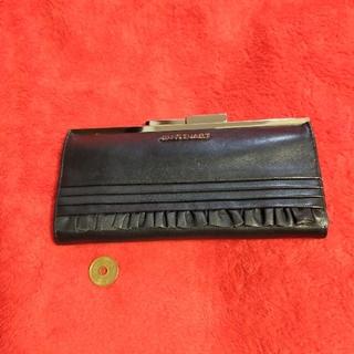 ジルスチュアート(JILLSTUART)のジルスチュアート がま口型ロングウォレット ブラックカラー (財布)