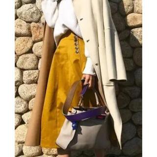 ルシェルブルー(LE CIEL BLEU)のルシェルブルー コルセットスカート yellow(ひざ丈スカート)
