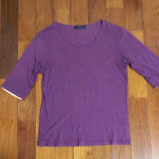 レイジブルー(RAGEBLUE)のRAGE BLUE 7分袖 Tシャツ Lサイズ パープル(Tシャツ/カットソー(七分/長袖))