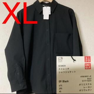 ユニクロ(UNIQLO)の【UNIQLO×Theory】ストレッチシャツジャケット/XL(ミリタリージャケット)