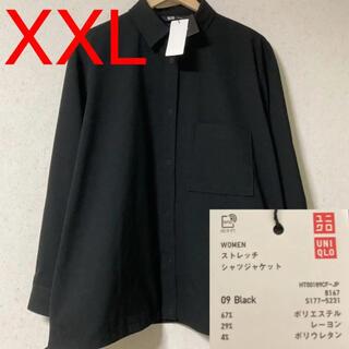 ユニクロ(UNIQLO)の【UNIQLO×Theory】ストレッチシャツジャケット/XXL(ミリタリージャケット)