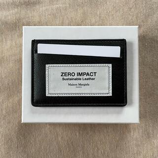 マルタンマルジェラ(Maison Martin Margiela)の新品 メゾン マルジェラ ZERO IMPACT カードケース 財布 黒 メンズ(長財布)