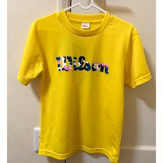 ウィルソン(wilson)の⭐️特価品⭐️Wilson💛可愛い💛バドミントン半袖TシャツXSサイズ(バドミントン)