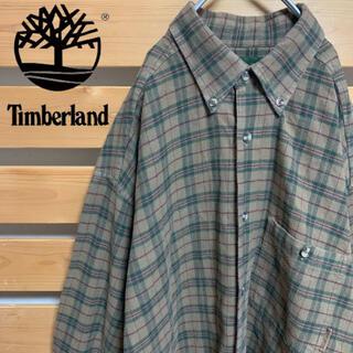 ティンバーランド(Timberland)のTimberland 長袖シャツ チェック アースカラー 希少 古着 90s(シャツ)