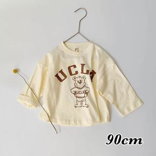 コドモビームス(こどもビームス)の韓国子供服 UCLAロンT ホワイト 90(Tシャツ/カットソー)