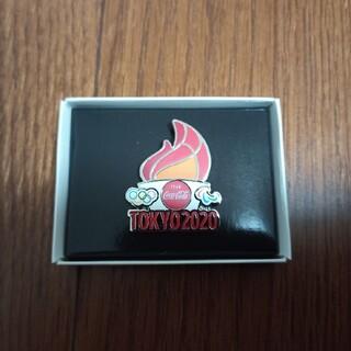 コカコーラ(コカ・コーラ)の東京オリンピック ピンバッジ 聖火 TOKYO 2020 コカコーラ 限定(ノベルティグッズ)