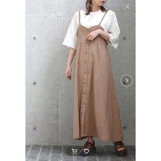 w closet - w closet  ジャンパースカート ベージュ