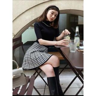 エイミーイストワール(eimy istoire)のDarich / チェックプリーツニットスカート(ミニスカート)